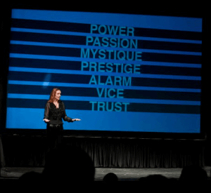 Sally Hogshead presenting the 7 triggers to fascination
