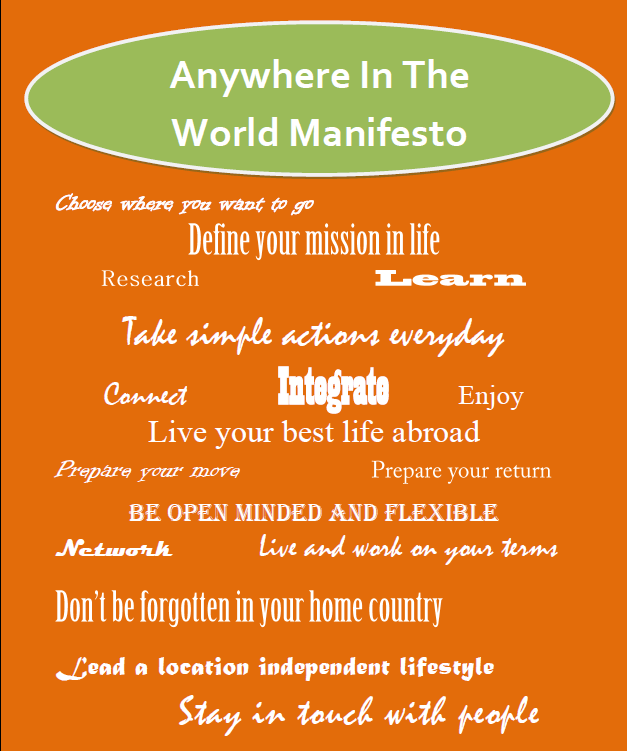 Anywhere in the World Manifesto