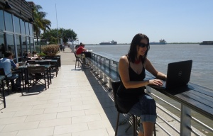 Working Outdoors in Rosario, Argentina