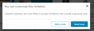 LinkedIn_invitation always add a note.