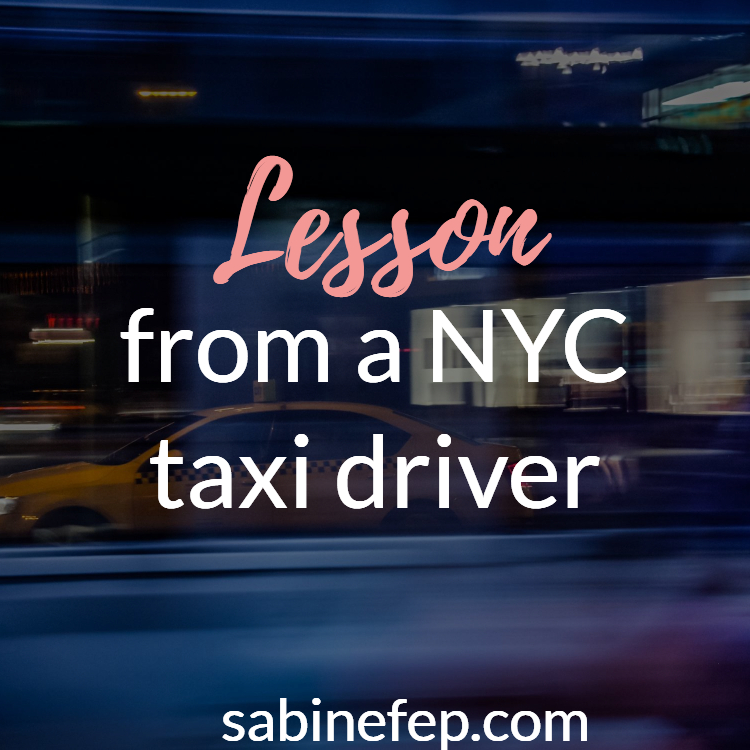 lesson from taxi driver