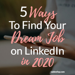 ways to find a job on linkedin in 2020