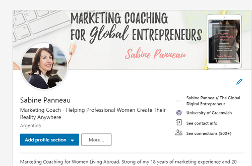 Optimize linkedin profile to find clients Sabine Panneau