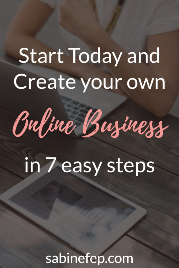 own online business 7 steps