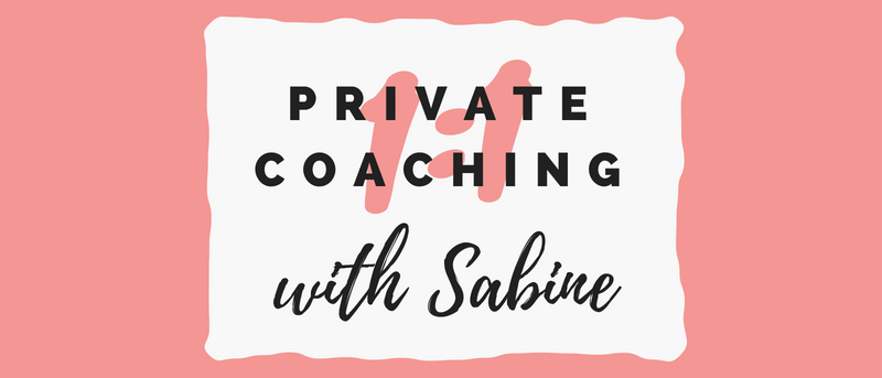 get coaching with Sabine Panneau