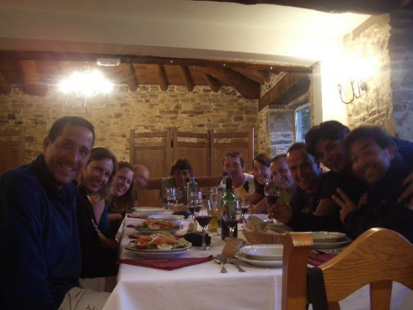Meal out on the Camino