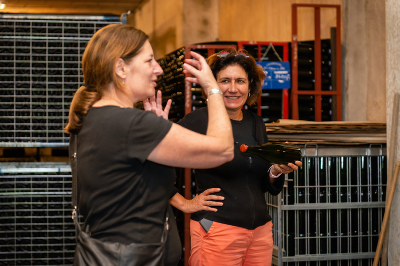 cellar visit with Andrea Sutherland