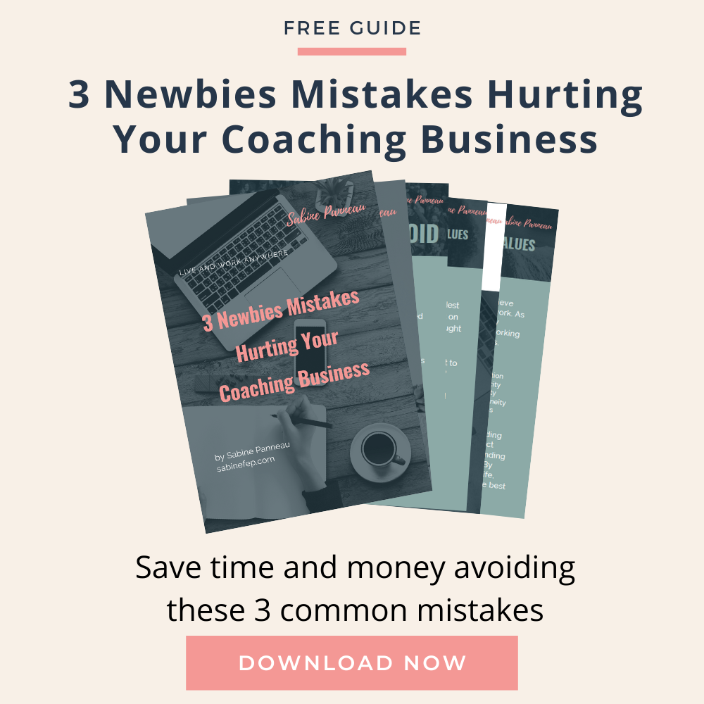 3 Newbies mistakes hurting your coaching business