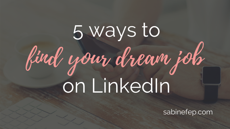 find your dream job on linkedin hd